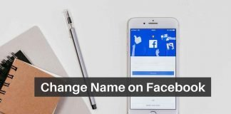 Change Name on Facebook