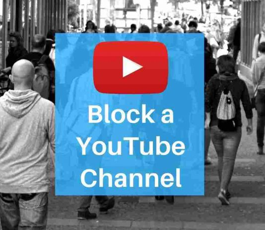 Block a YouTube channel