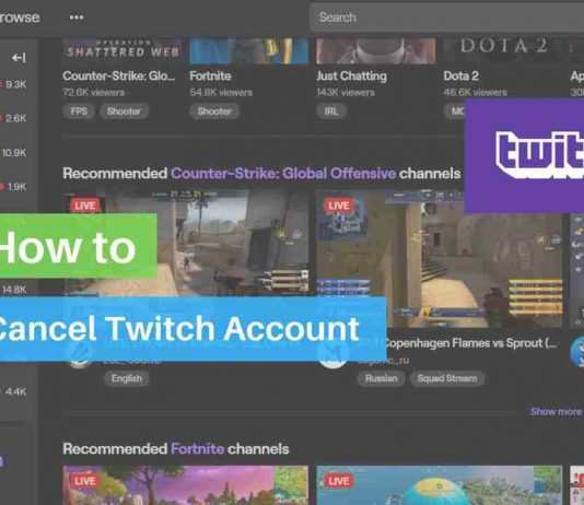How to cancel twitch account