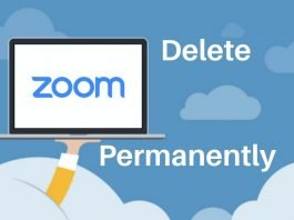 How to delete Zoom account (1)
