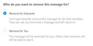 Remove Facebook Message on both side